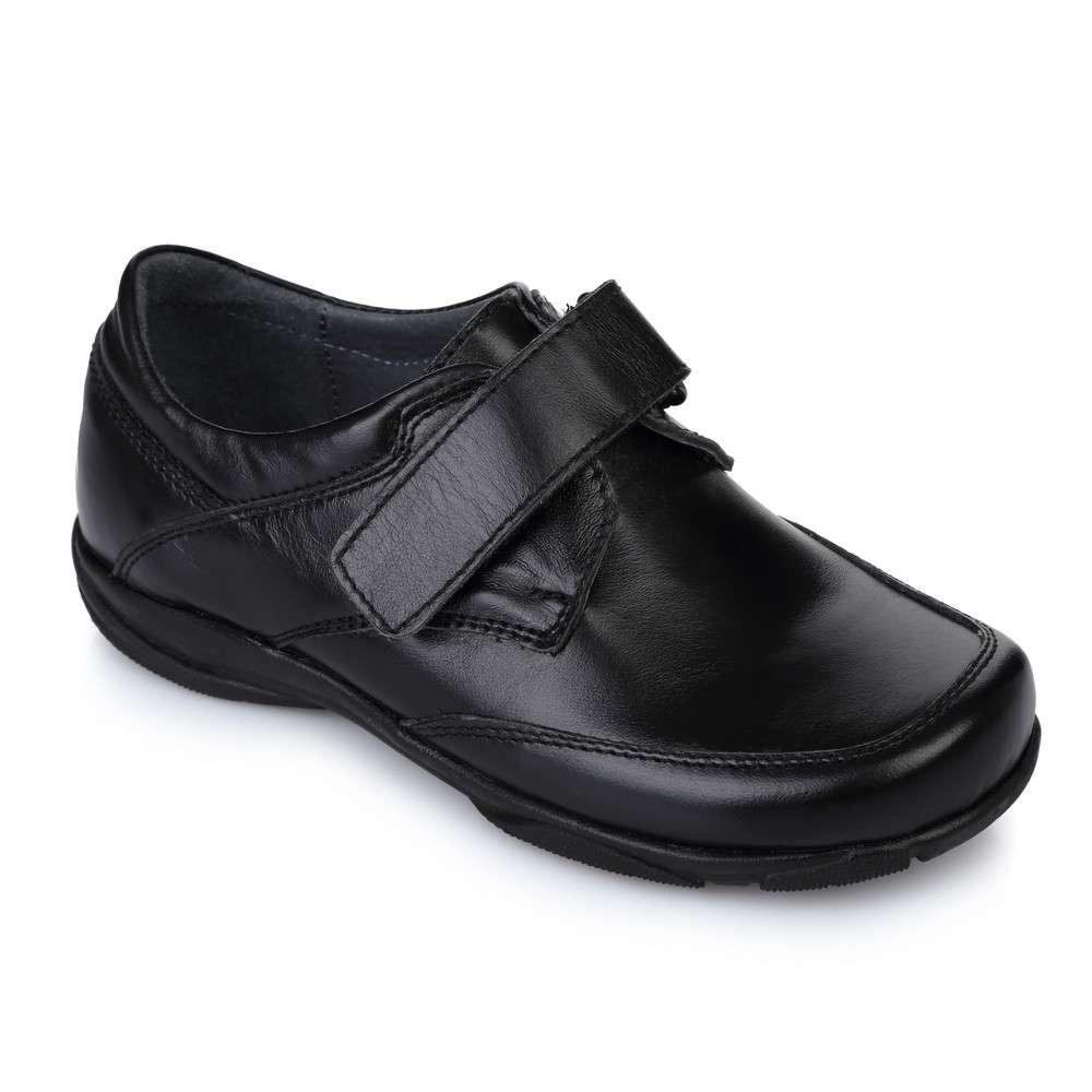 Туфли кожаные на липучках