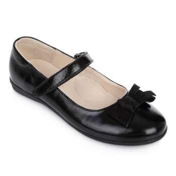 Туфли кожаные лакированные на липучке