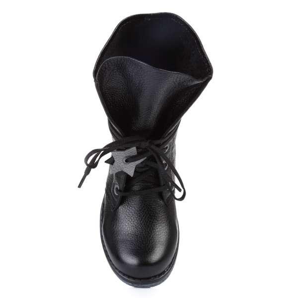 Сапоги кожаные черные