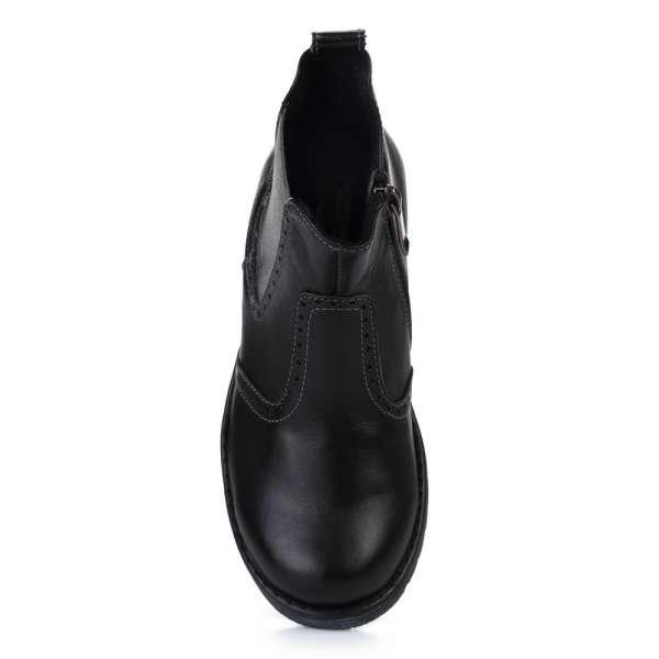 Челси кожаные черные