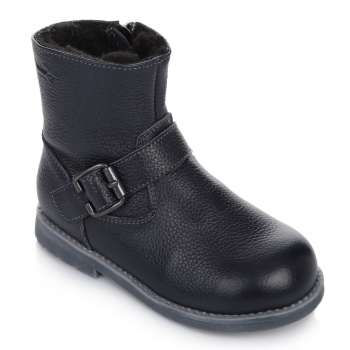 Ботинки кожаные с пряжкой