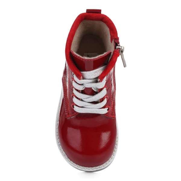 Ботинки кожаные лакированные красные