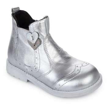Челси кожаные серебряные