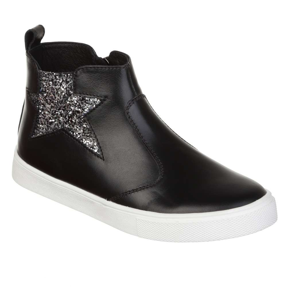 Ботинки кожаные со звездой Black
