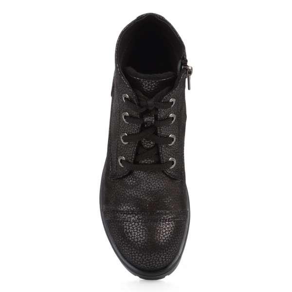 Ботинки кожаные с лазерной обработкой