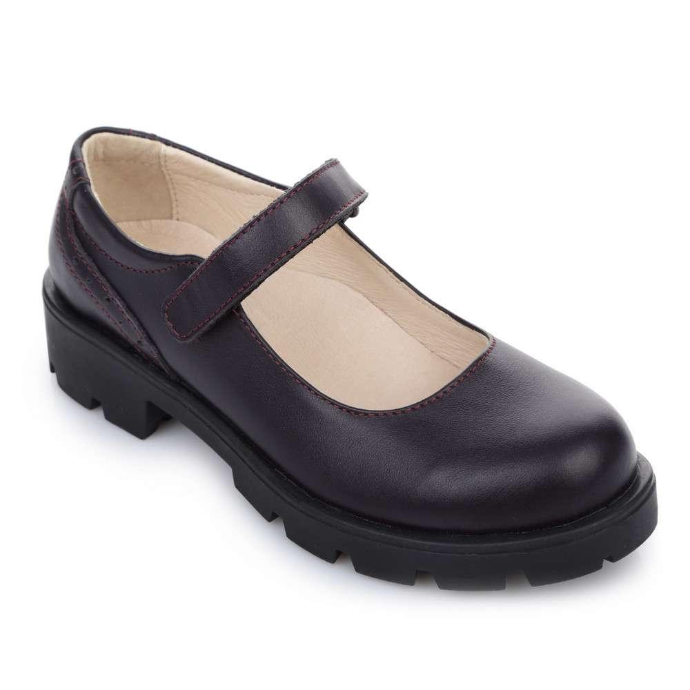 Туфли кожаные на тракторной подошве