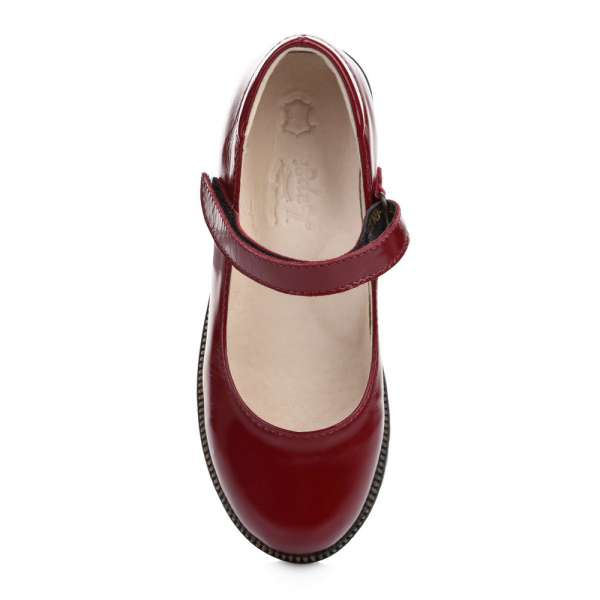 Туфли кожаные лакированные бордовые