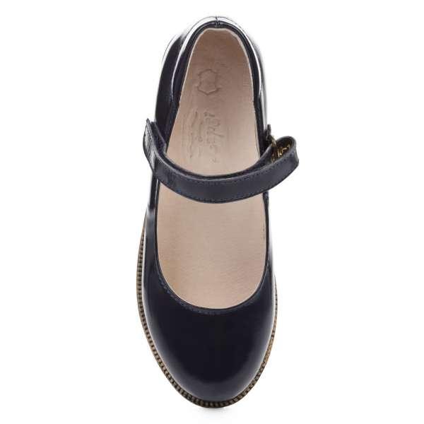 Туфли кожаные лакированные синие