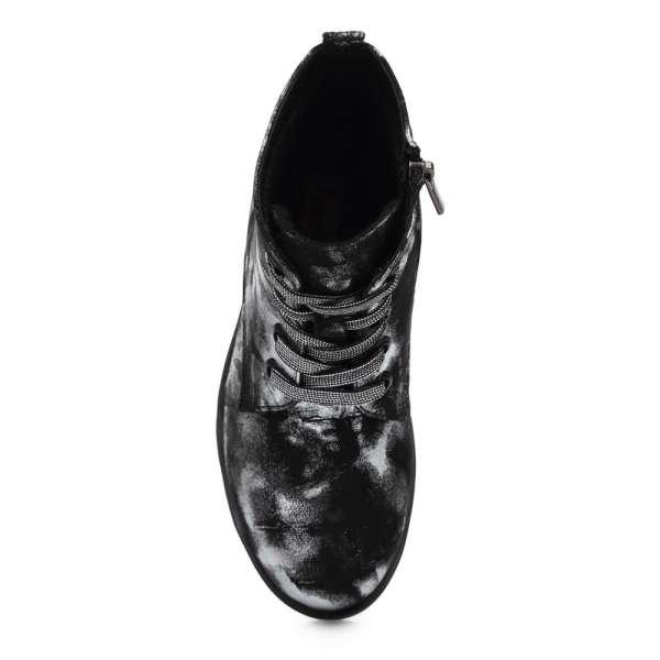 Ботинки с принтом на шнуровке