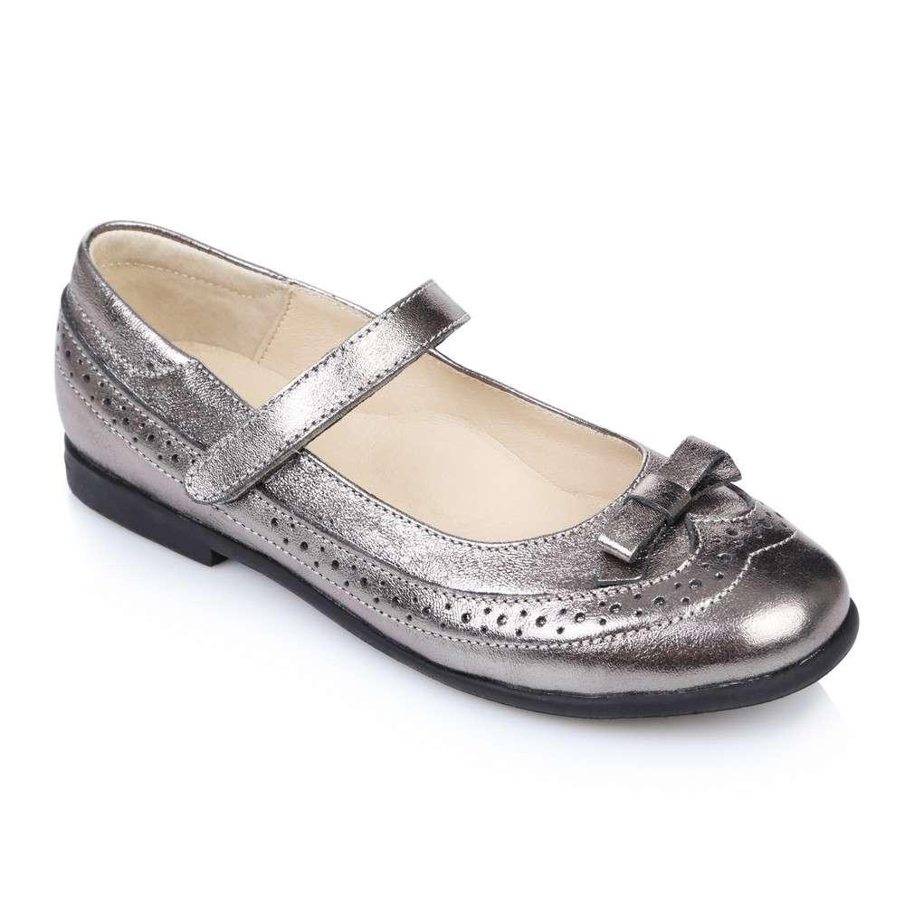Бронзовые кожаные туфли