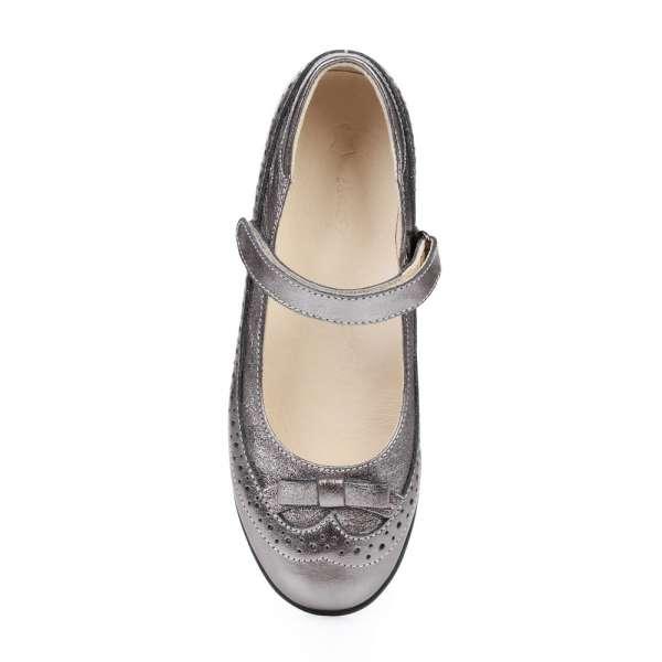 Туфли кожаные бронзовые