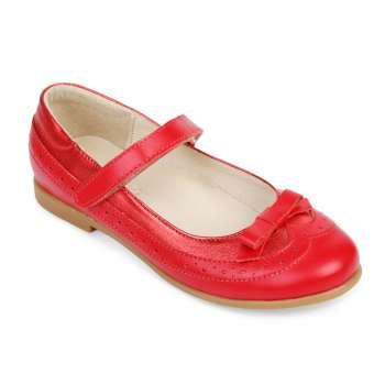 Туфли кожаные красные