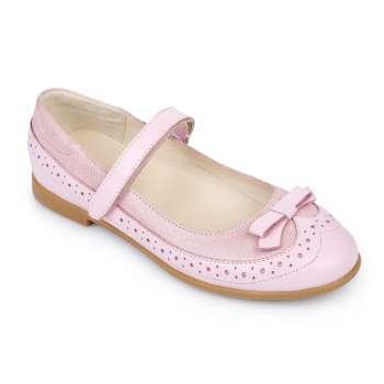 Туфли кожаные розовые