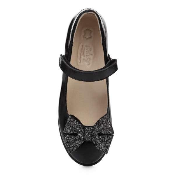 Туфли кожаные с бантом