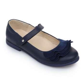 Туфли кожаные с оборками