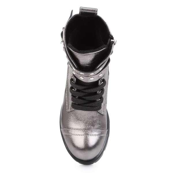 Ботинки кожаные с ремнями