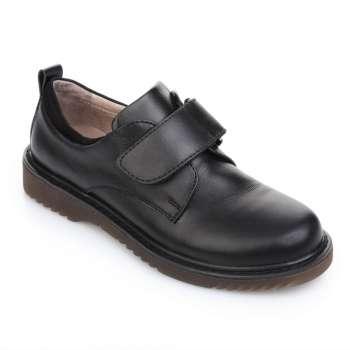 Туфли кожаные на липучке