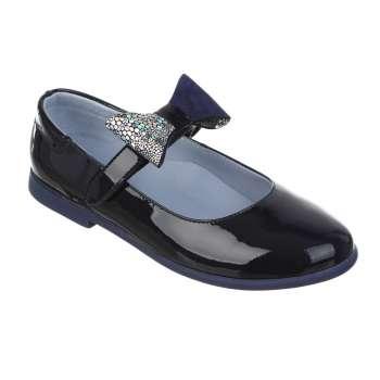 Туфлі лакові на липучці зі змінним бантом