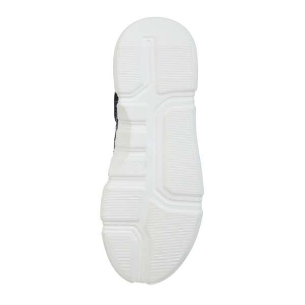Шкіряні біло-чорні кросівки