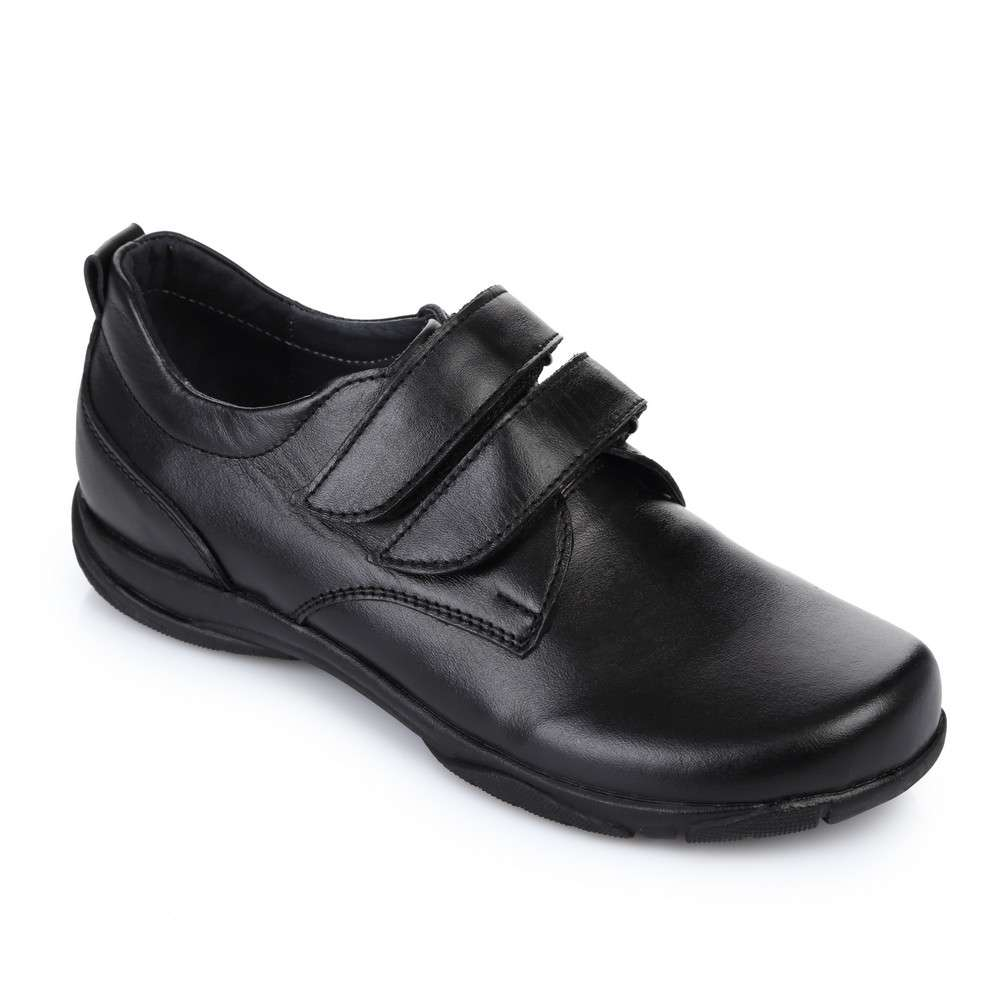 Полуботинки кожаные черные
