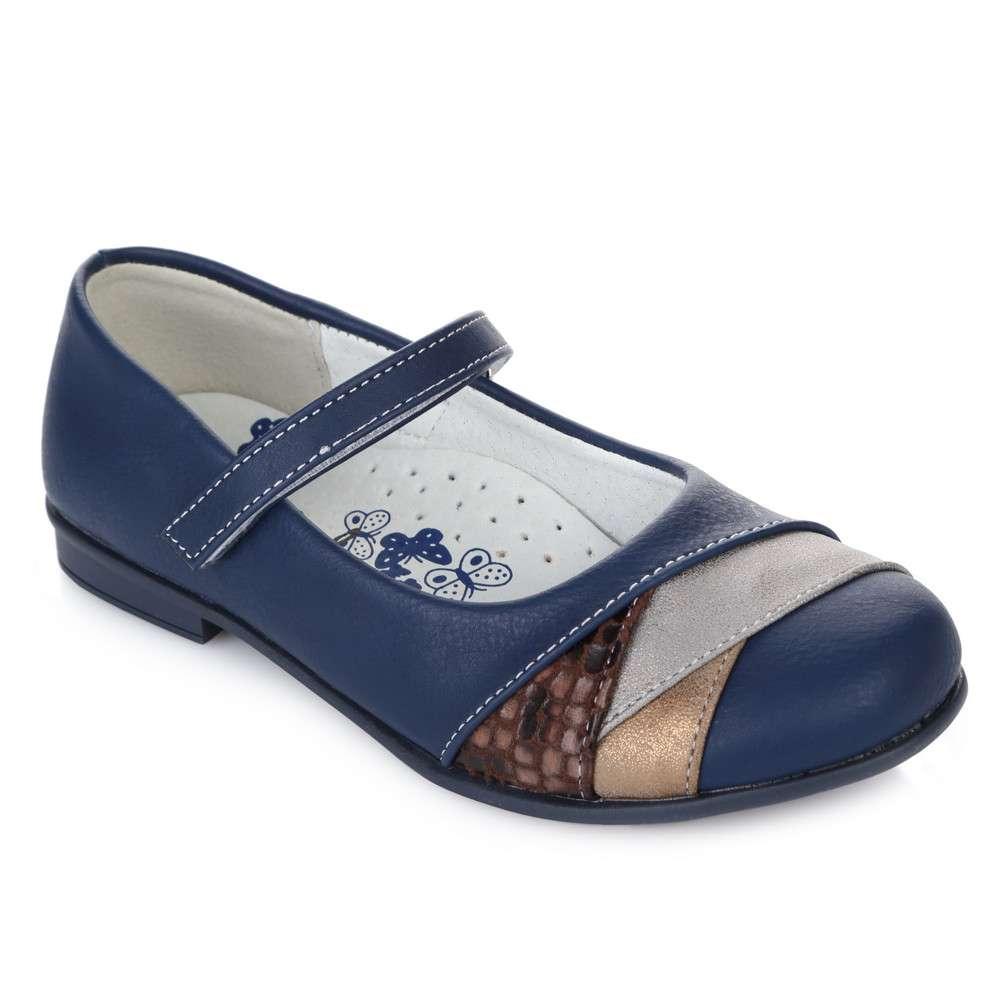Синие туфельки на липучке
