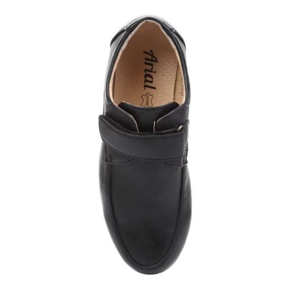 Туфли на липучке черные