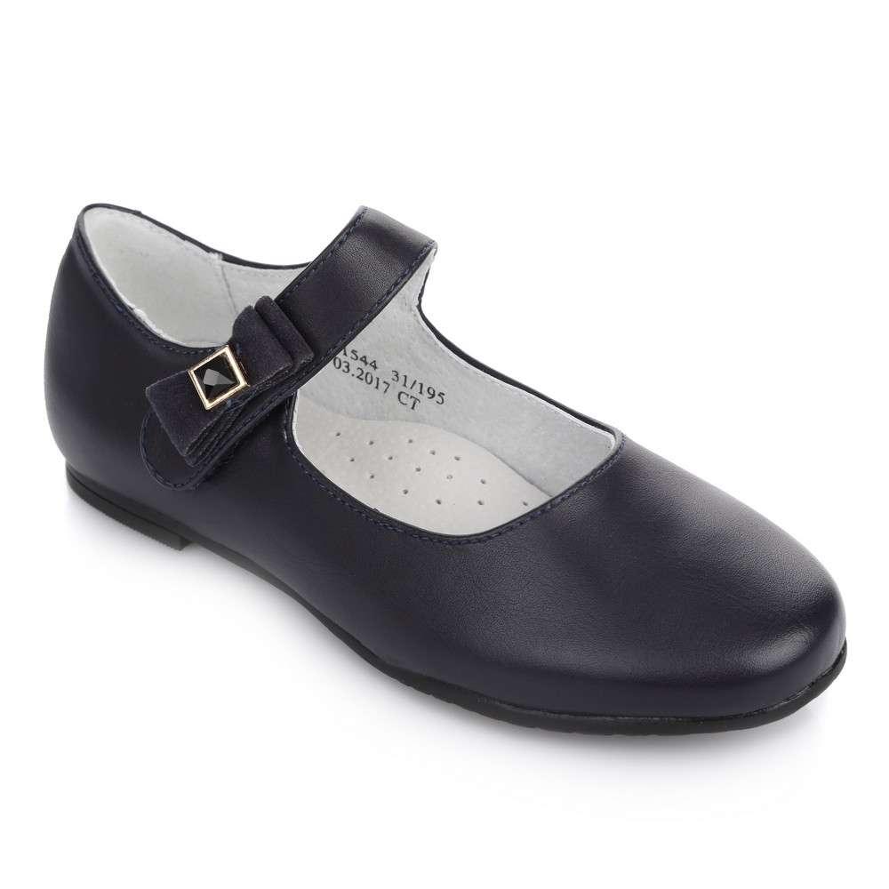 Синие туфли на липучке