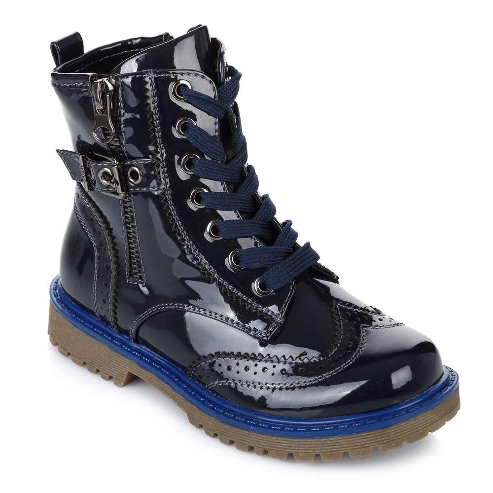 Стильные синие ботинки