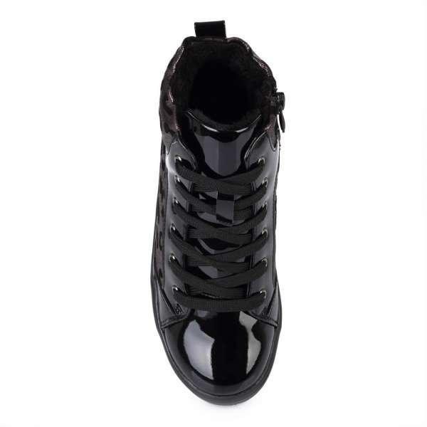 Ботинки с принтом леопард