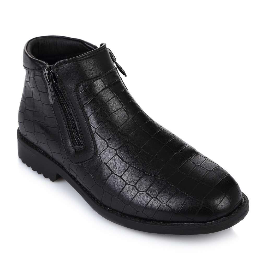 Ботинки на молниях принт крокодил