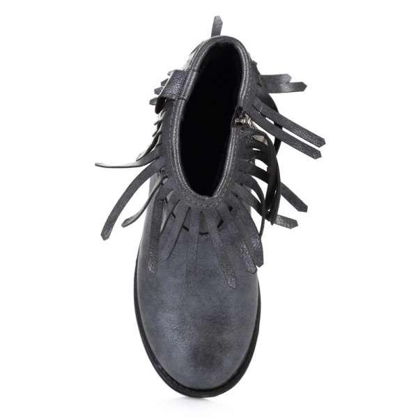 Ботинки с бахромой