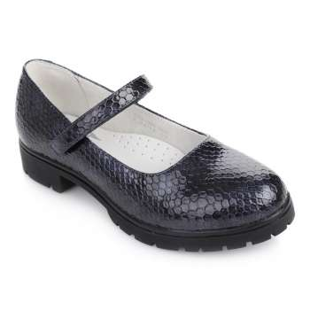Туфли на тракторной подошве принт рептилия