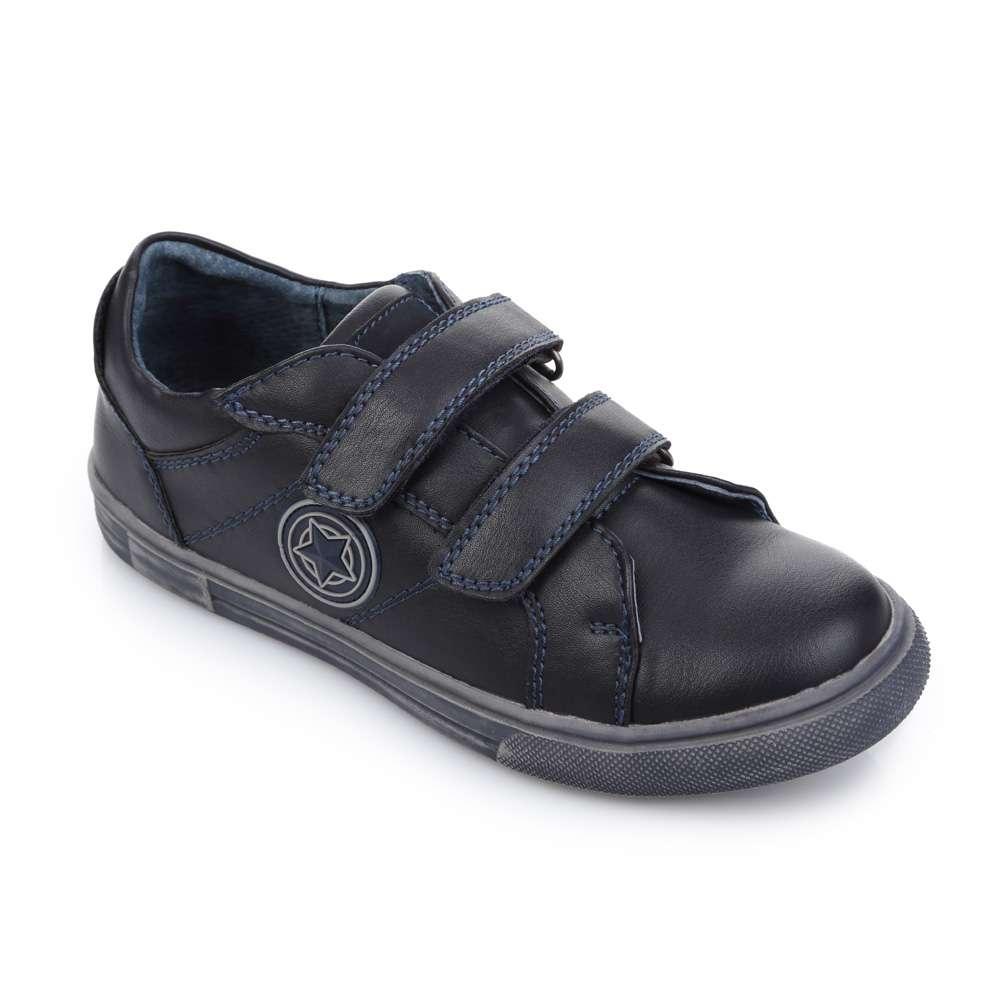 Кроссовки на липучке синие