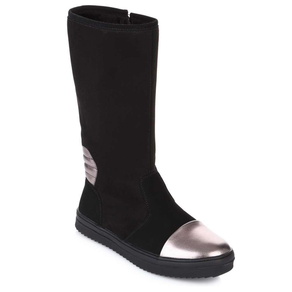 Высокие сапоги бронзовый носок