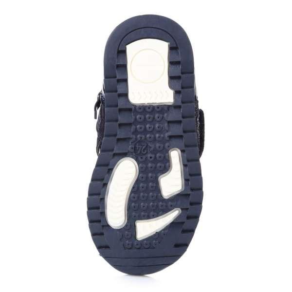 Спортивные ботинки на липучке в камни