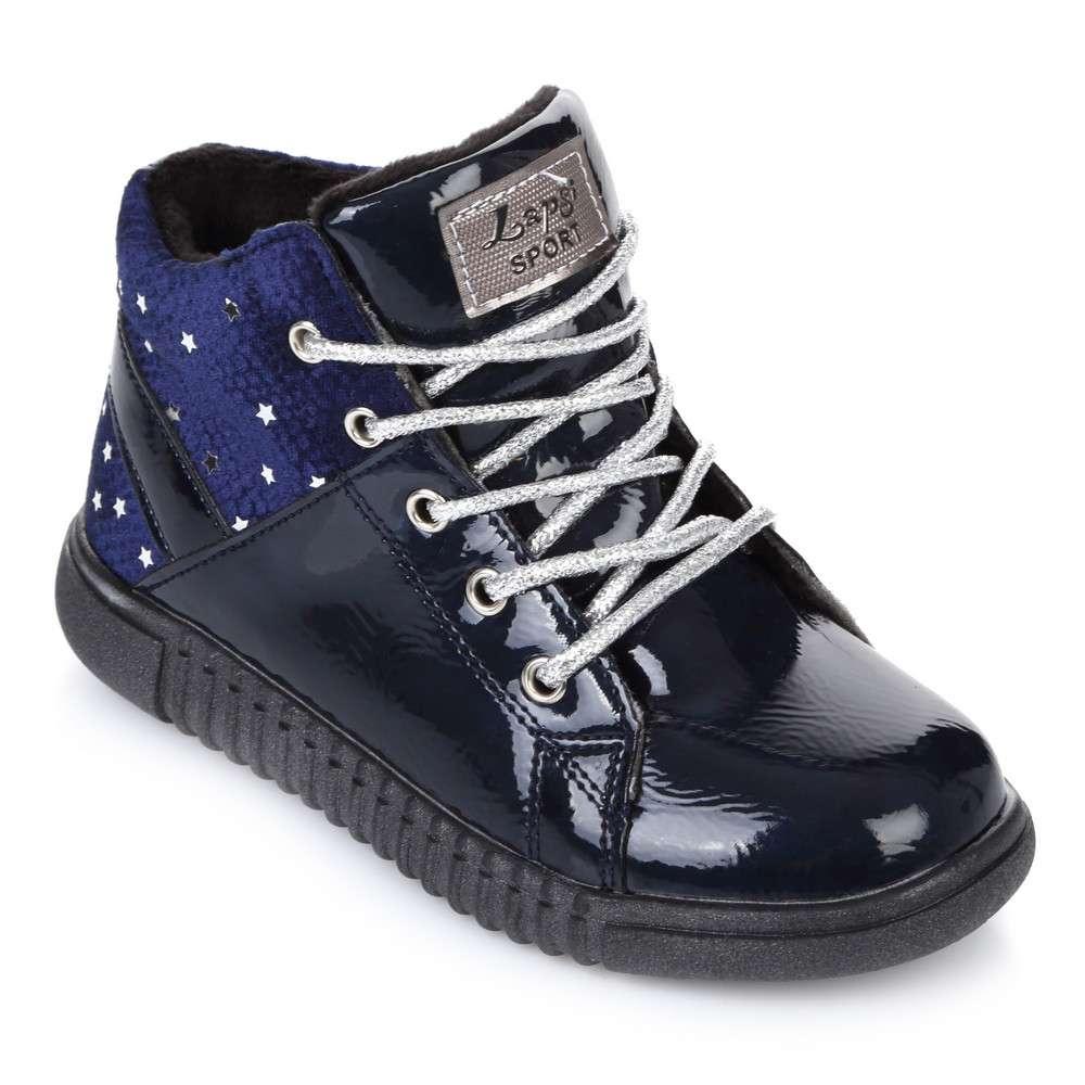 Ботинки синий лак