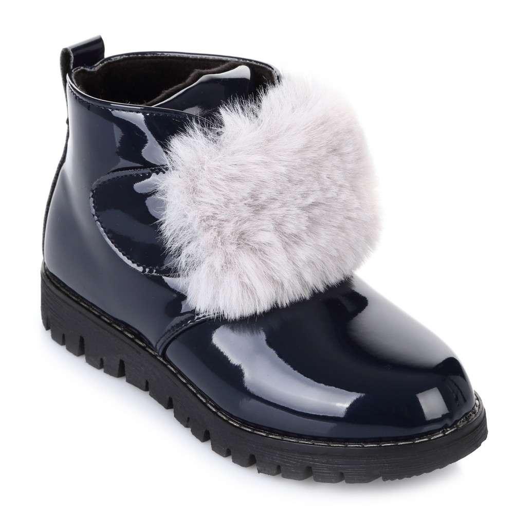 Сині черевики з муфтою