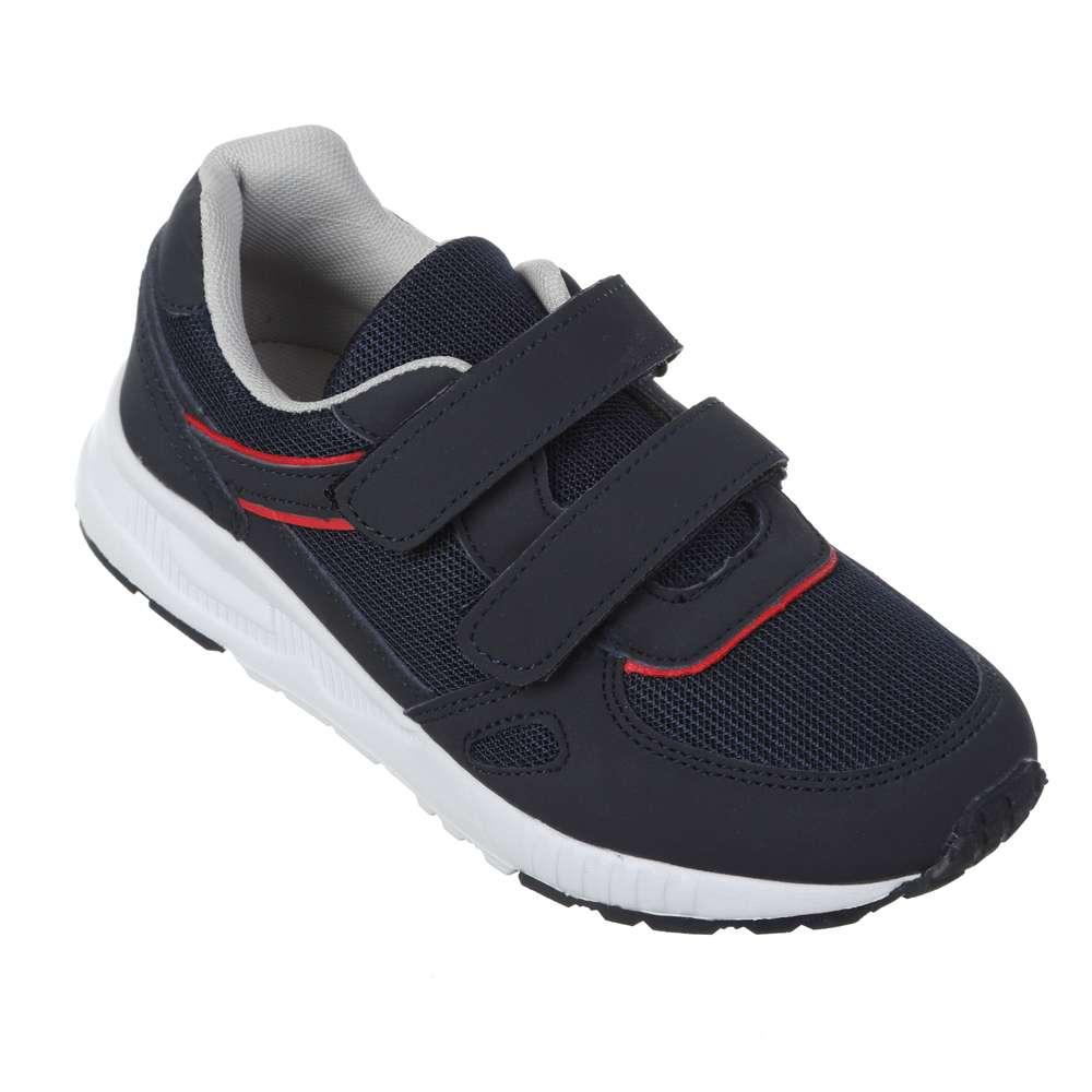 Кроссовки на липучках сине-красные