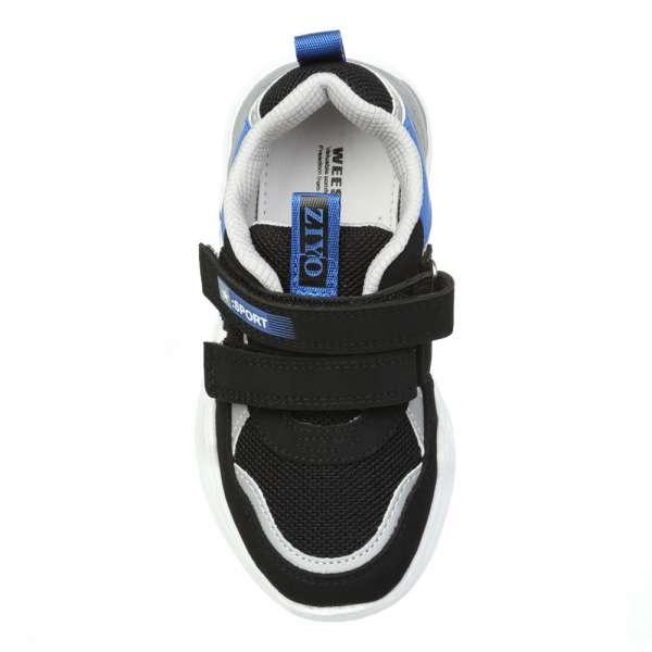 Кроссовки на липучках черные