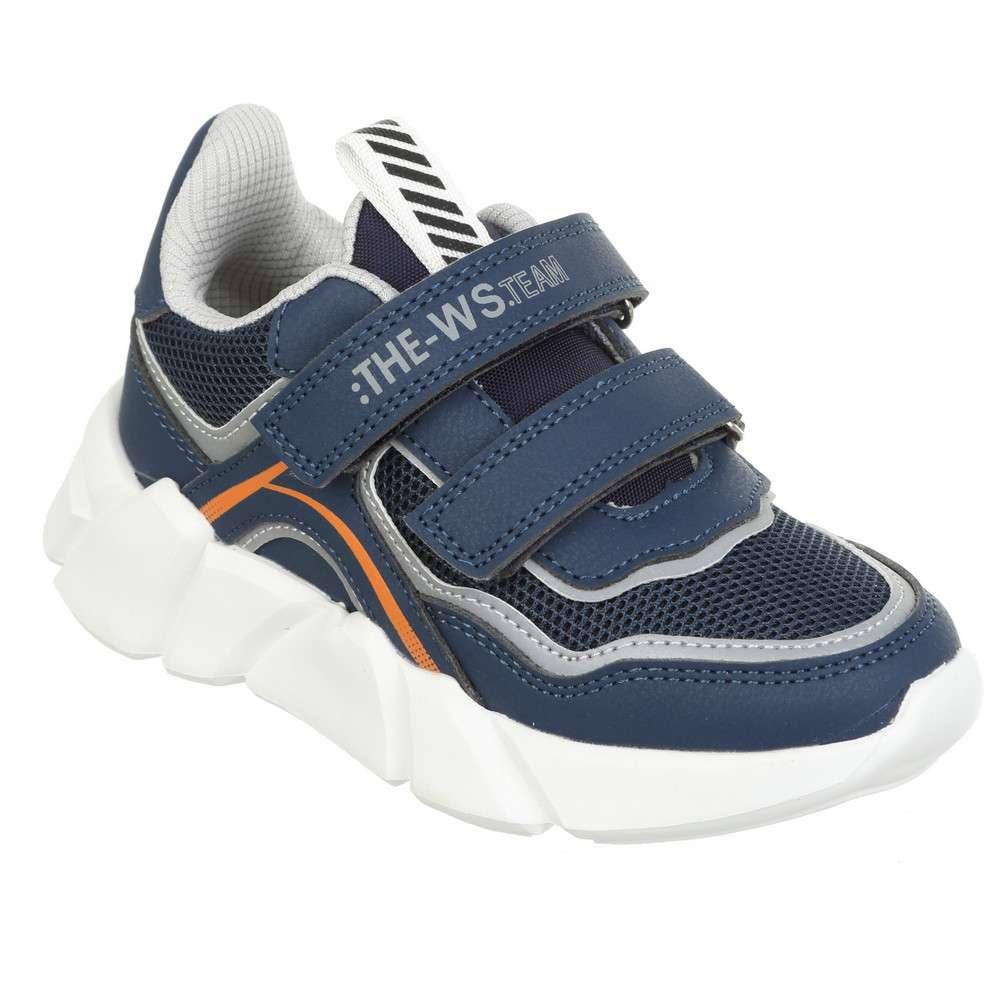 Кроссовки на липучках синие