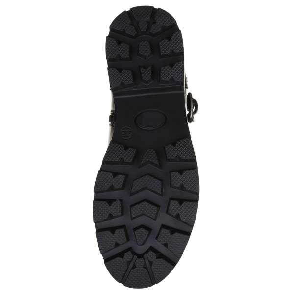 Ботинки кожаные с ремнями Black