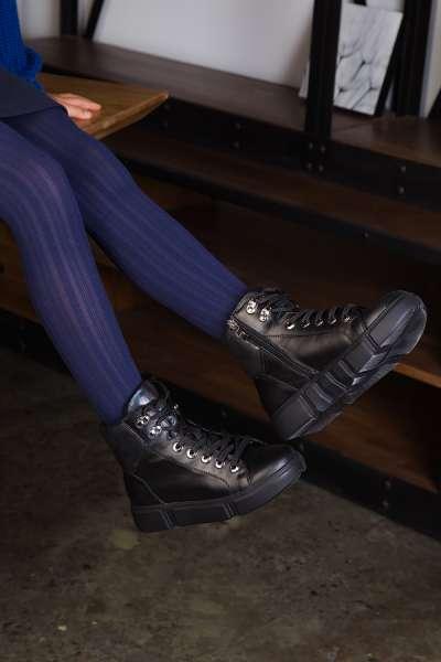 Ботинки кожаные на спортивной подошве