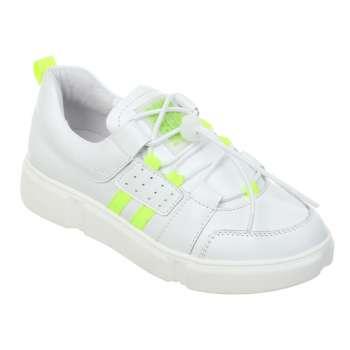 Кожаные кроссовки с яркими полосками