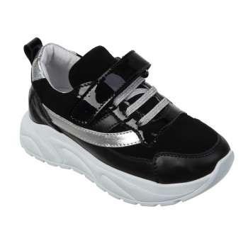Шкіряні чорні кросівки