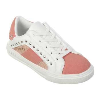 Кросівки з заклепками рожеві