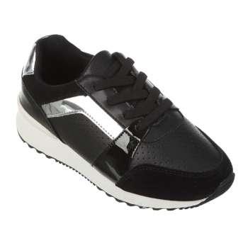 Кроссовки черные с перфорацией