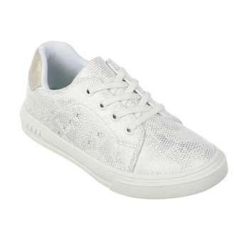 Кросівки на шнурівці-резинці білі