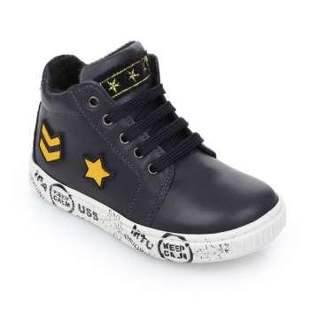 Кожаные ботинки на шнуровке и молнии