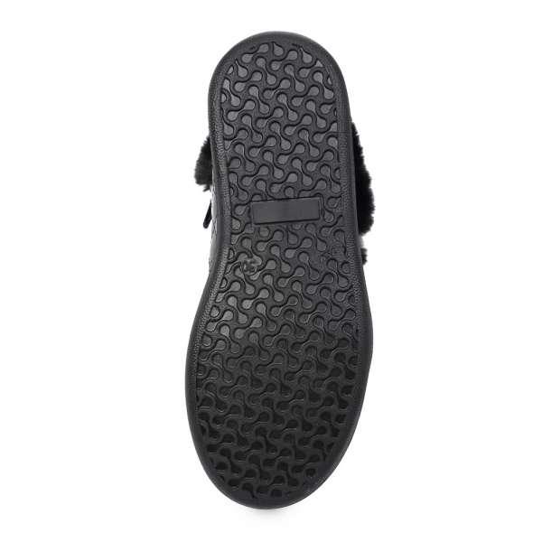 Ботинки с меховой опушкой